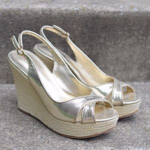 Lilly Pulitzer Picture Perfect Gold Wedge Sandal